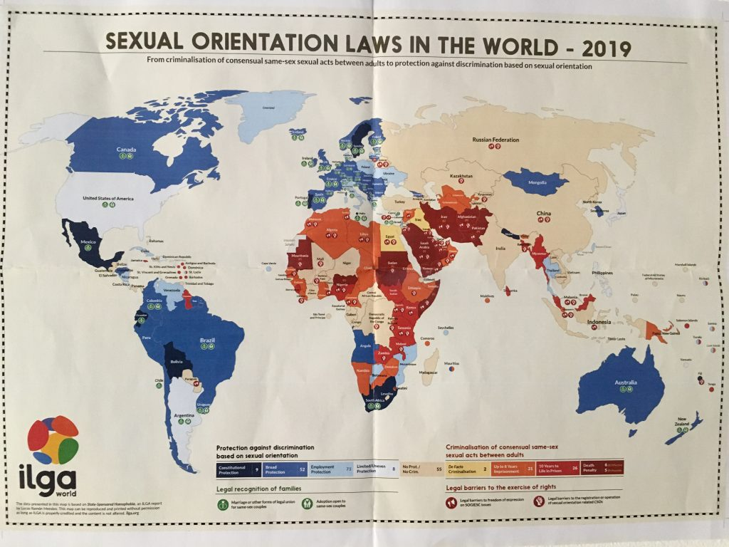 Botswana, which recently decriminalized same- sex relationships