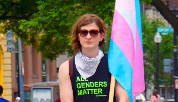 First trans solidarity rally and march, Washington, DC USA
